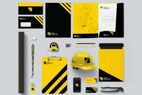 Full Brand Identity for Construction Company Company Myanmar